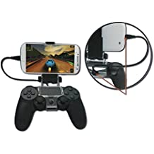 Smart Phone Clip Clamp Mount Holder Stand Bracket for Sony PlayStation 4 PS4 Wireless Controller (Holder included ONLY) by KAGU CULTURE [並行輸入品]