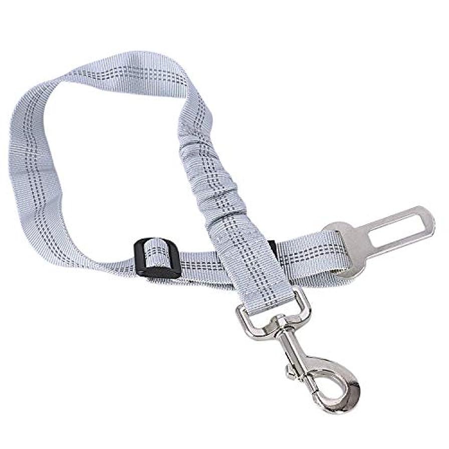 リル影響する契約Xigeapg 車の犬のベルト調節可能な犬猫子犬カーシートベルト反射シートベルトハーネスリードペット犬の安全リード車のシートベルト、グレー