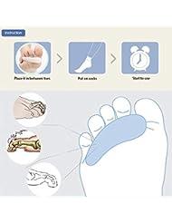 単孔外反母趾疼痛緩和プロシリコンつま先セパレータつま先パッドけいれんハンマーつま先整形外科
