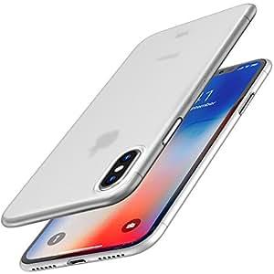 IPhoneケースX、TOZOウルトラシンPP [0.35mm]シンナーワールド保護ケース[半透明]軽量iPhone 10 / Xケース[マットホワイト]