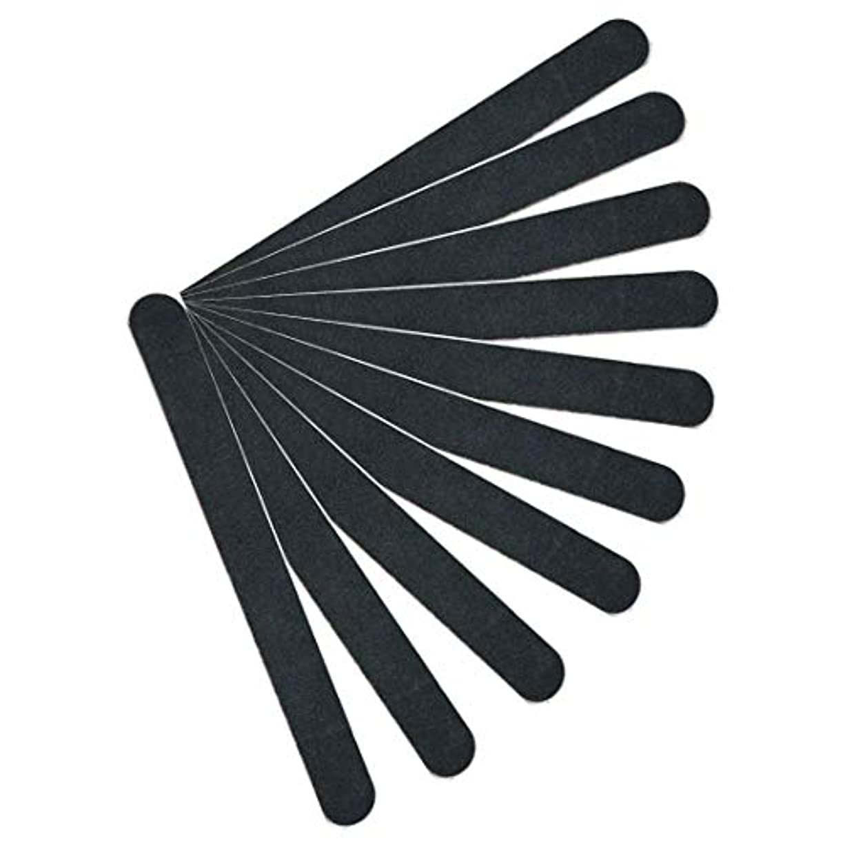 コジオスコ霜増強【kimari】(10本セット)kmr-001ブラックネイルファイル エメリーボード 100/180グリット 爪けずり ネイルやすり