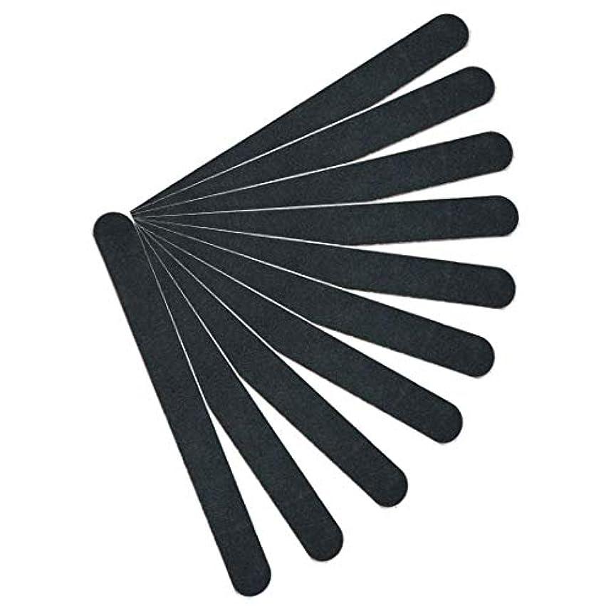【kimari】(10本セット)kmr-001ブラックネイルファイル エメリーボード 100/180グリット 爪けずり ネイルやすり