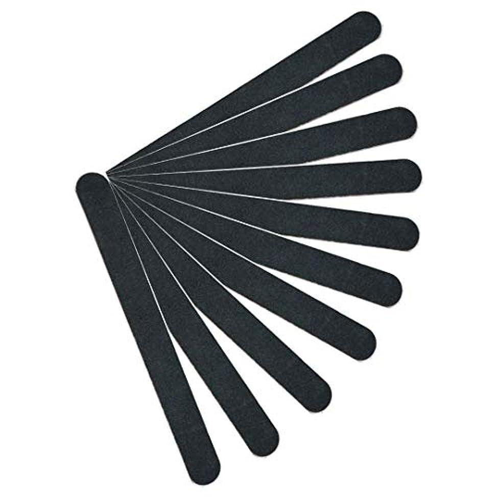 瞳剃る可塑性【kimari】(10本セット)kmr-001ブラックネイルファイル エメリーボード 100/180グリット 爪けずり ネイルやすり