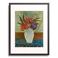 アンリ・ルソー Henri Julien Félix Rousseau 「Vase of flowers.」 額装アート作品