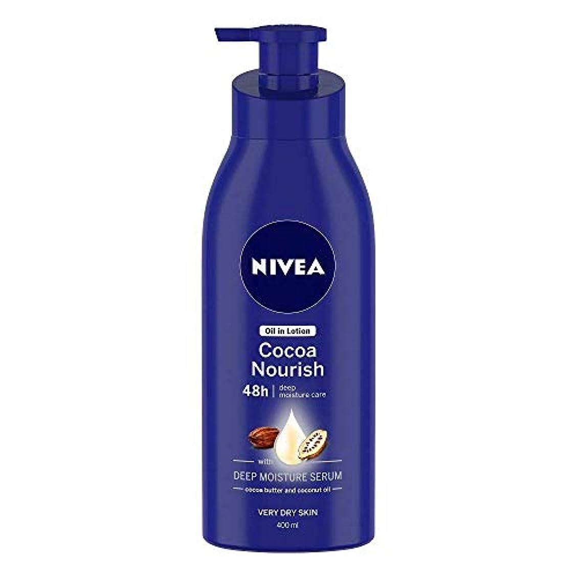 制限する名誉見るNivea Oil in Lotion Cocoa Nourish, 400ml