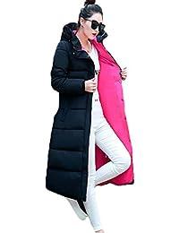 GuDeKe レディース 冬 アウター ダウン ロング コート ダウン ジャケット 中綿 防寒 上品 フード付き 中綿 ダウン ジャケット ひざコート