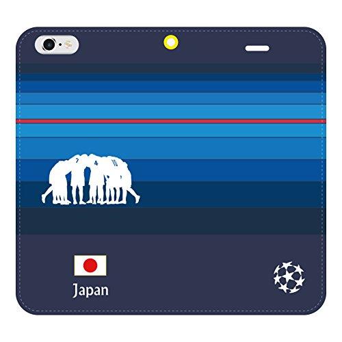 iphone8 ケース 手帳型 サッカー 侍JAPAN 20...