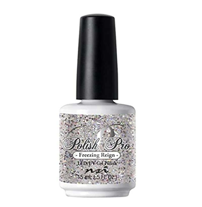 ハッピーの頭の上白鳥NSI Polish Pro Gel Polish - The Ice Queen Collection - Freezing Reign - 15 ml/0.5 oz