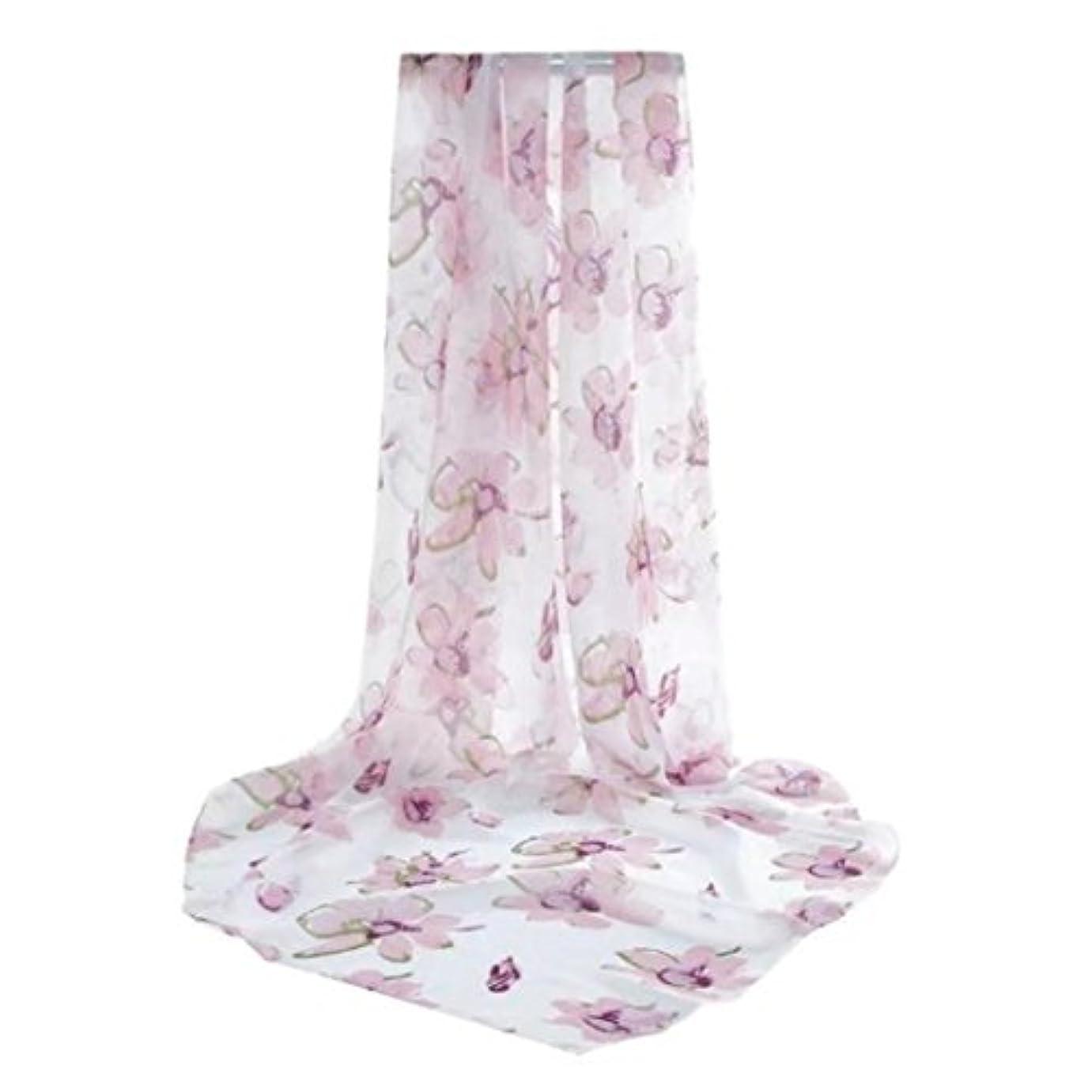 鮮やかな誰がスクラップFeiscat ファッション レディ プリント ロングラップ 女性のショール シフォン スカーフ シルクのスカーフ