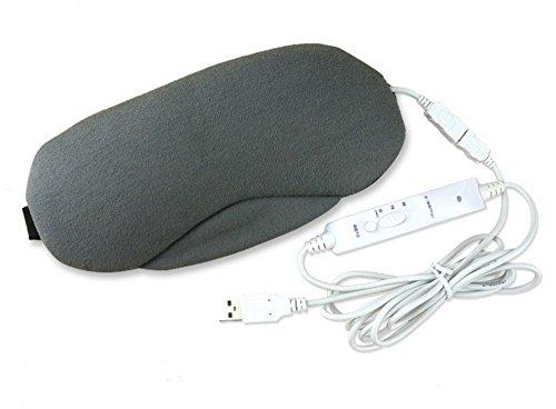 【 疲れた目をリフレッシュ 】 ホット アイマスク 電熱式 アイウォーマー タイマー設定 温度調節 洗える 熟睡 仕事 ドライアイ デスク SD-EYEWARM-GY