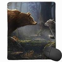 マウスパッド 熊プリント 光学式マウス対応 おしゃれ 滑り止め 防水 耐洗い表面 オフィス用 家庭用 30*25CM