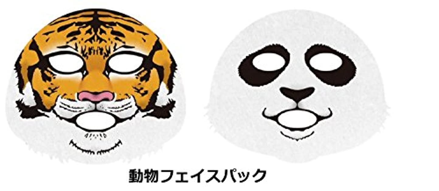 南アメリカそして生きている一心堂本舗 【セット品】 動物フェイスパック (パンダ,トラ,歌舞伎2種)