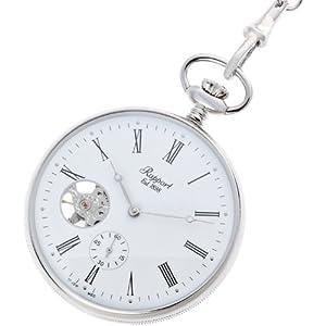 [ラポート]RAPPORT 懐中時計 オープンフェイス スモールセコンド スケルトン 手巻き式 シルバー PW87 【正規輸入品】
