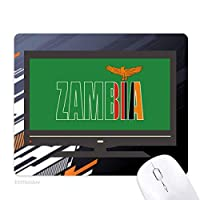 ザンビア国の旗の名 ノンスリップラバーマウスパッドはコンピュータゲームのオフィス
