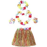 コスチュームカラフルな草のスカートハワイのフラダンス衣装