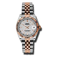 Rolex Datejust 31シルバーダイヤルスチール18kt Everose Gold Jubilee Automatic Ladies Watch 178271ssj
