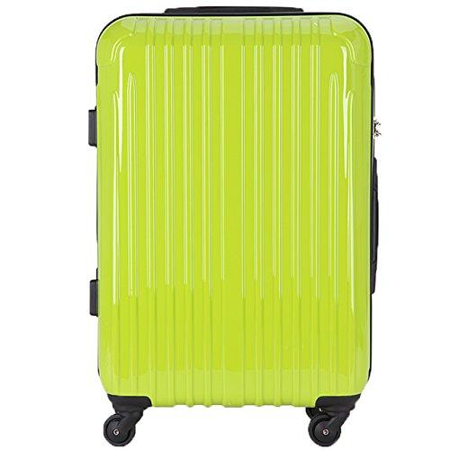 TY001小型(ラッキーパンダ) Luckypanda スーツケース 超軽量 機内持込 小型 TSAロック ファスナー 2年修理保証 TY001 ハード キャリーバッグ キャリーケース キャリーバック トランクケース 旅行カバン バック 軽量 S 機内持ち込み Suitcase Luggage amazon(Sサイズ(2~3日の旅行向け), グリーン)