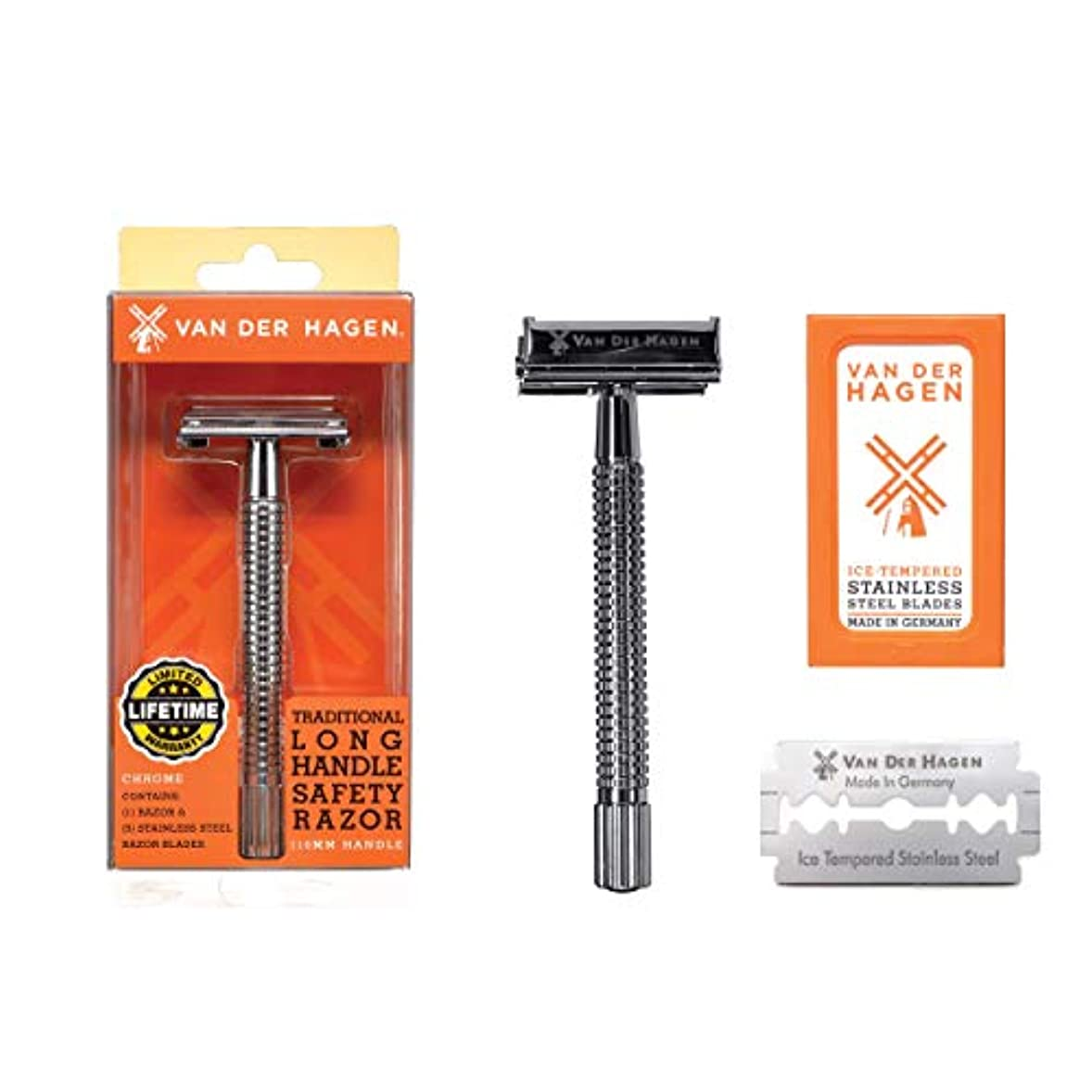 Van der Hagen Razors long handle ヴァンデルハーゲンレイザーズロングハンドル安全剃刀, 髭剃り [並行輸入品]