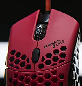 Finalmouse x Ninja Air58 - Cherry Blossom Red Weighs Only 58 Ounces Ultralight