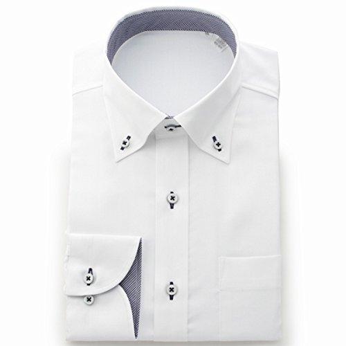 ビサルノ(VISARUNO) ラクチンすっきりYシャツ・肌触りなめらか素材形態安定生地使用【ホワイトA(標準)/39-78~80】