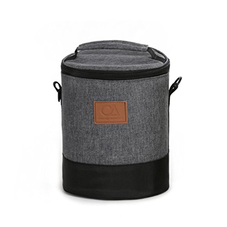 YONGJUN 断熱バレル大型断熱袋アルミニウム箔厚いランチボックスバッグラウンドオックスフォードケーキハンドバッグ ( 色 : グレー )