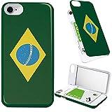 iPhone8 iPhone7 iPhone6 iPhone6s ケース ミラー ミラー付き 旗 ブラジル国旗 世界 の 国旗 ブラジル ミラーケース かっこいい 格好いい アイフォン8 アイフォン7 アイフォン6 アイフォン6s カバー かっこいい 格好いい 鏡付き iPhoneケース