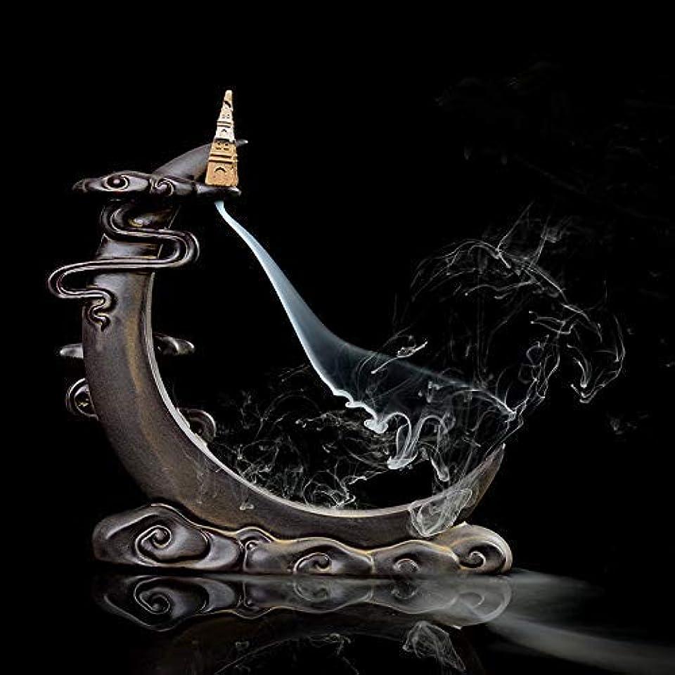 悪意年金受給者講師PHILOGOD 陶器香炉 月の形逆流香 倒流香仏壇用香置物 香立て