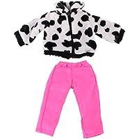 Lovoski かわいい 人形 ジッパー トップ コート & パンツ 18インチ アメリカンガールドール対応 装飾