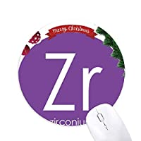 化学元素周期表遷移金属ジルコニウムZr クリスマスツリーの滑り止めゴム形のマウスパッド