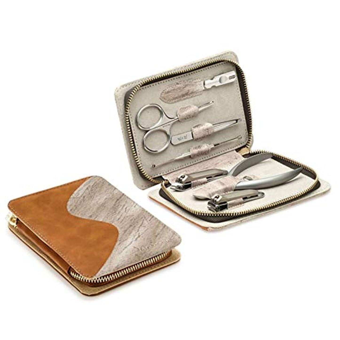 香り例示する感度JIAYIZS ネイルクリッパーを設定ネイルはさみ斜めカットネイルファイルネイルクリッパー家庭用インレイネイルはさみペディキュアナイフ7セット (Color : Silver, Style : 1)