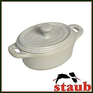 [ストウブ] staub セラミック オーバル ミニココット 11cm 40511-089 ホワイト