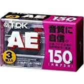 TDK オーディオカセットテープ AE 150分3巻パック [AE-150X3G]