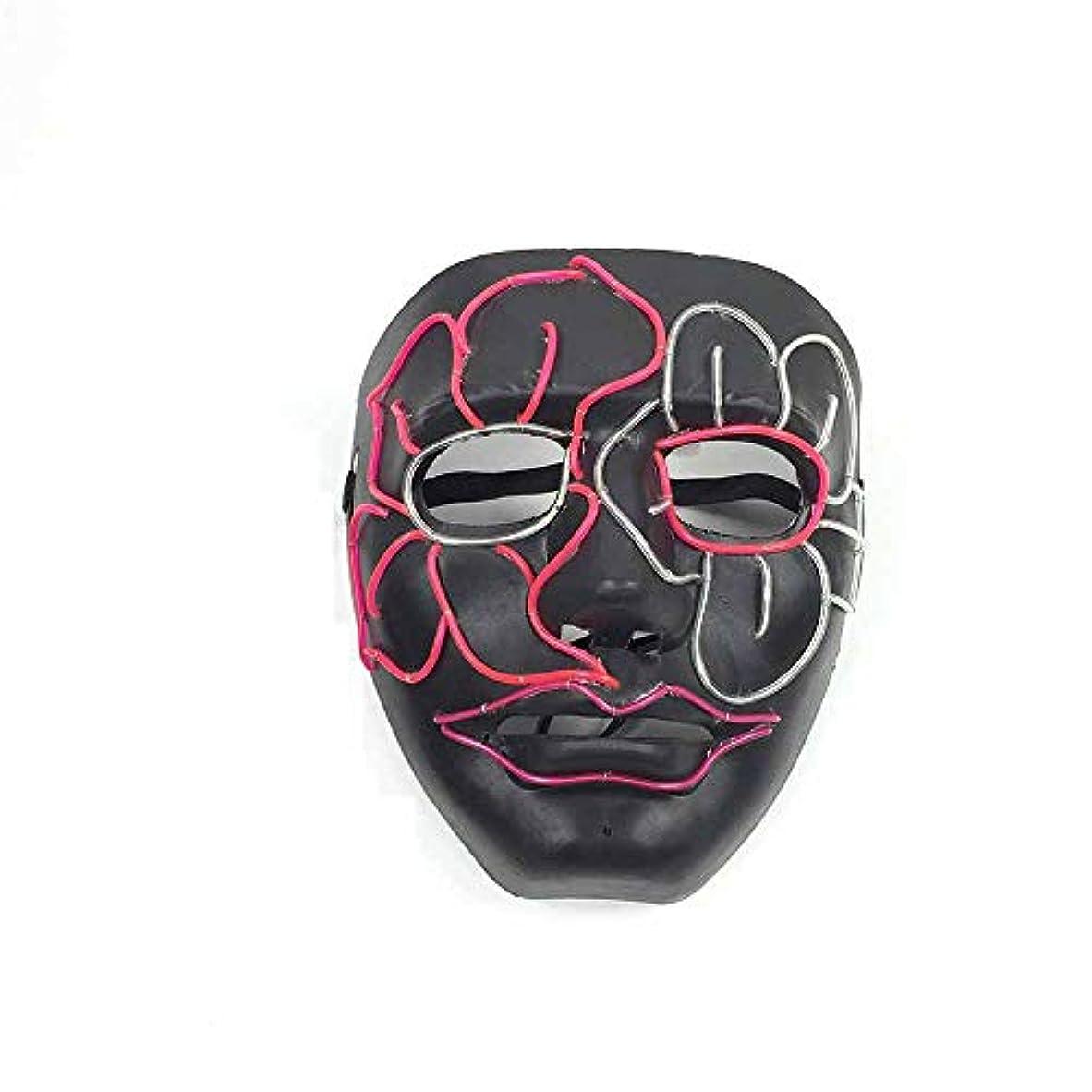 排気永久に余剰ハロウィングローイングクリーピーマスク、コスプレマスク