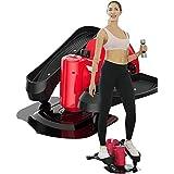 Mini Stepper Ultra Quiet Magnetic Control Elliptical Twisting Machine Aerobic Exercise Burning Calories Adjustable Stepper Exercise Equipment
