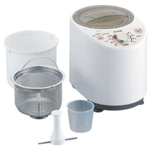 ツインバード コンパクト精米器 ホワイト MR-E500W