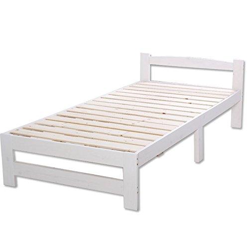 【コンパクト梱包モデル】ベッド シングル すのこベッド 北欧 パイン材 シンプル スノコ スノコベッド 【ホワイト】商品名:メッツア 【S シングルサイズ】