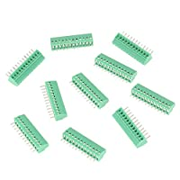 10個端子台コネクタ、12ピン2.54 mmピッチマウント電源ネジ端子台コネクタ、12ピンPCBネジグリーン端子台コネクタ