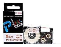 カシオ ネームランド用 互換 テープカートリッジ 9mm XR-9WER 白地赤文字