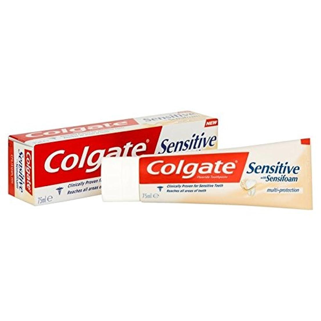 デュアル給料手つかずのコルゲート敏感な泡は、マルチ歯磨き粉75ミリリットルを保護します x4 - Colgate Sensitive Foam Multi Protect Toothpaste 75ml (Pack of 4) [並行輸入品]