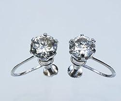 【KASHIMA】プラチナ900・大粒・1.5ct・ダイヤモンド・イヤリング
