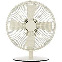 ピエリア 卓上扇風機 レトロテーブルファン 30cm ホワイト RIM-353 WH