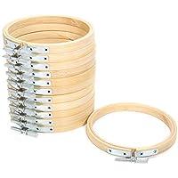 KING DO WAY 10cm 刺繍枠 刺しゅう枠 12個入り 竹製 円形 クロスステッチツール キルティング用