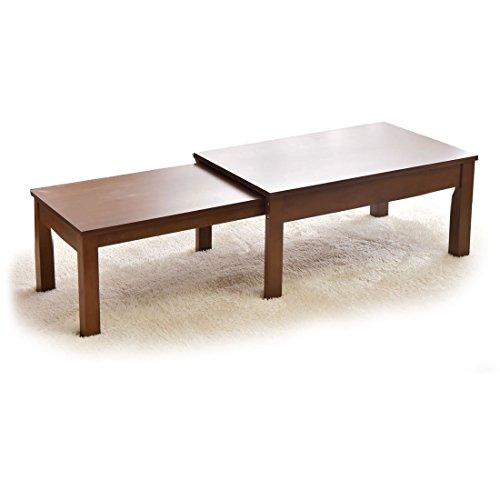 タンスのゲン 幅80~140cm 伸張式テーブル