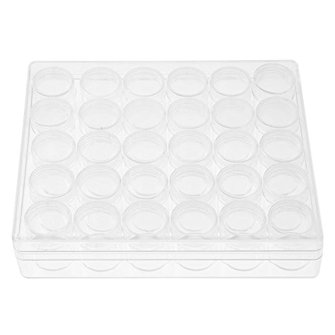 メンタルスピーカー荷物30の貯蔵タンクの容器の瓶の宝石類の小さい貯蔵の長方形の箱の円形の透明なプラスチック