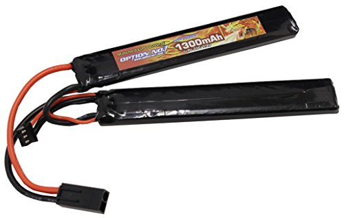 OPTION No.1 GB-0022M HIGH POWER LIPO 1300mAh 7.4V サドルパック