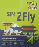 プリペイドSIMカード 3GB 8日間 4G/3G 韓国 台湾 香港 シンガポール マカオ マレーシア フィリピン インド カンボジア ラオス ミャンマー オーストラリア ネパール 日本 SIM2Fly