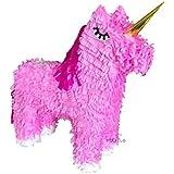 ユニコーン 馬 ピンク ピニャータ パーティー ゲーム おもちゃ 装飾 記念品 18インチ x 18インチ