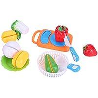 ままごと ごっこ遊び キッチンおもちゃ 12個/セット 食品切断おもちゃ プレイ 食べ物セット子供 キッチンロールプレイキット フルーツ 野菜ゲーム