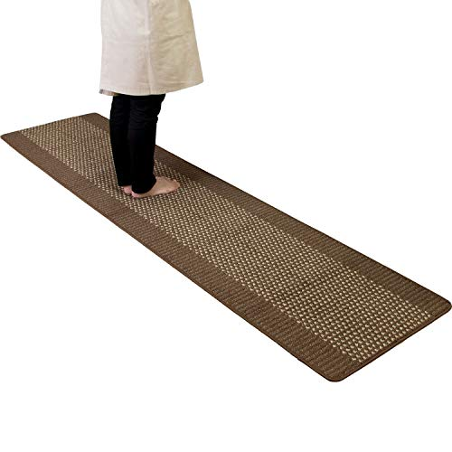 オカ 優踏生 洗いやすいキッチンマット ブラウン 約60cm×252cm (洗える システムキッチン 日本製 252 60 滑...