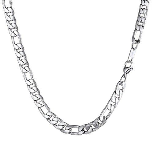 [해외]PROSTEEL 피가로 체인 스테인레스 46 ~ 76cm 남성 목걸이 체인 패션 액세서리 보석 (실버)/PROSTEEL Figaro chain stainless steel 46 - 76 cm Men`s necklace chain fashion accessory jewelry (silver)